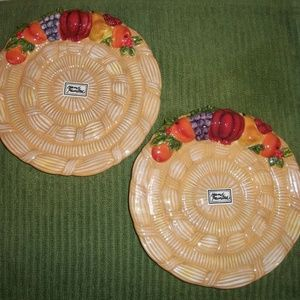 SET Department 56 Basket Weave Fall Dishes